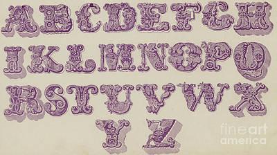 Example Alphabet  Art Print