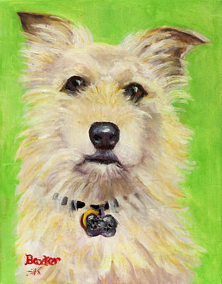 Portrait Dog Painting - Example Of Pet Portrait by Sheila Kinsey