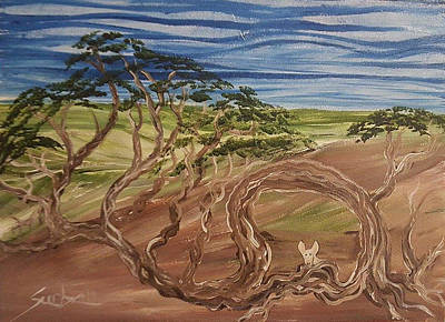 Painting - Exavier In Tree by Suzanne Surber