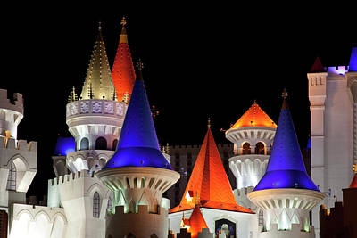 Photograph - Excalibur Hotel Turrets Las Vegas Nevada by Carol Highsmith