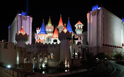 Photograph - Excalibur Towers by Framing Places