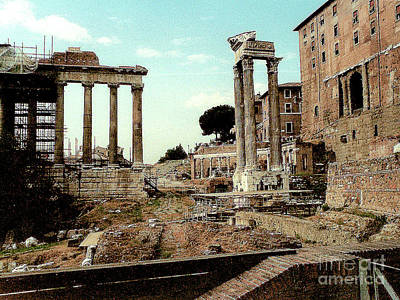 Photograph - Excavation And Restoration In Rome's Residential Area by Merton Allen