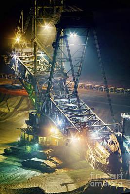 Photograph - Excavator Coalmine Garzweiler  by Daniel Heine