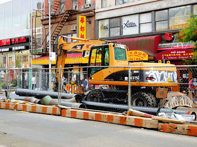 Scoop Painting - Excavator Track Hoe  by Lanjee Chee