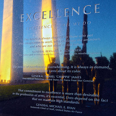 Values Photograph - Excellence by Mitch Cat