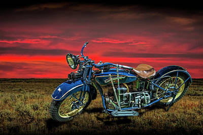 Photograph - Excelsior Henderson Motorcycle by Randall Nyhof