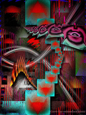 Subconscious Digital Art - Excerpt From A Dream by Mimulux patricia no No