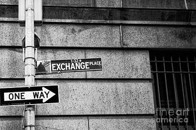 Exchange Place Photograph - Exchange Place by John Rizzuto