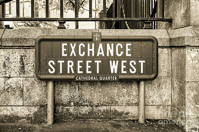 Photograph - Exchange Street West, Belfast by Jim Orr