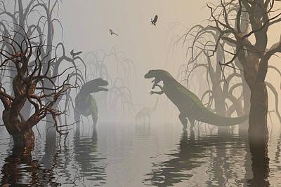 Dragon Digital Art - Exchanging Unpleasantries by Claude McCoy