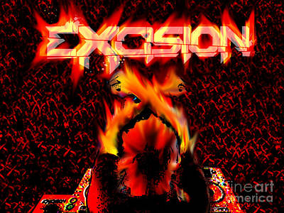 Excision On Fire Art Print