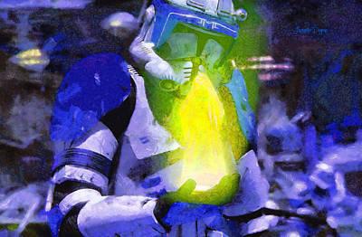 Order Digital Art - Execute Order 66 Blue Team Commander  - Camille Style -  - Da by Leonardo Digenio