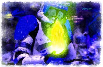 Execute Order 66 Blue Team Commander  - Cartoonized Style -  - Da Art Print by Leonardo Digenio