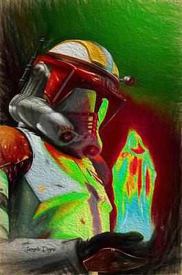 Boba Fett Digital Art - Execute Order 66  - Free Style -  - Da by Leonardo Digenio