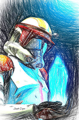 Vader Digital Art - Execute Order 66  - Sketch Style -  - Da by Leonardo Digenio