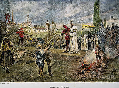 Execution Of Jan Hus, 1415 Art Print by Granger