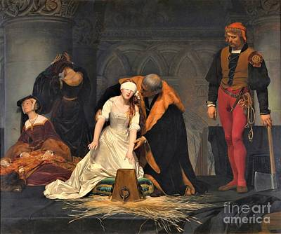 Painting - Execution Of Lady Jane Grey by Pg Reproductions