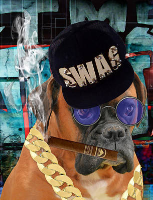 Boxer Mixed Media - Executive by Marvin Blaine