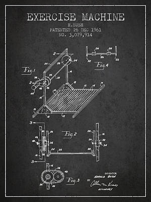 Yoga Drawing Digital Art - Exercise Machine Patent From 1961 - Charcoal by Aged Pixel