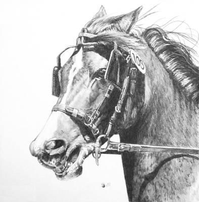 Barnyard Drawing - Exertion by Barbara Keith