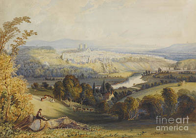 Exeter From Exwick, 1773 Art Print by William Havell