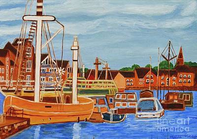 Painting - Exeter Ship Canal  by Magdalena Frohnsdorff