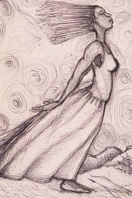 Exhaled Art Print by Malik Seneferu
