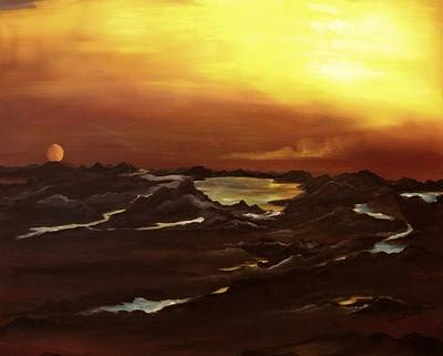 Exhausted Planet Art Print by Carol Sweetwood