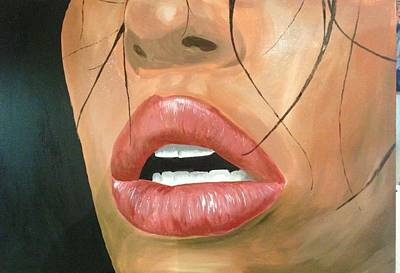 Drawing - Exhaustive Lips by Michael McKenzie