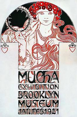 Painting - Exhibition Brooklyn Museum by Alphonse Mucha