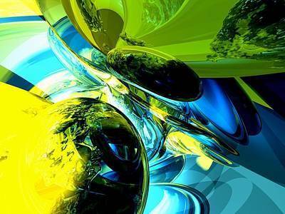 Glass Art Digital Art - Exhilaration Abstract  by Alexander Butler