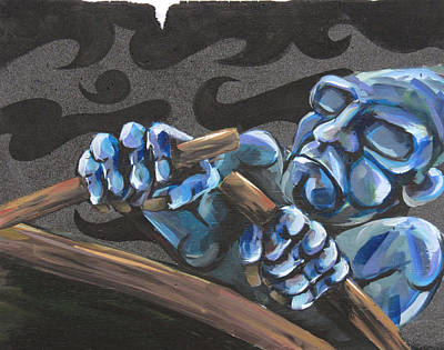 Oars Mixed Media - Exile by Marcus Ortega