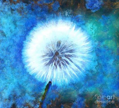 Abstract Flower Garden Digital Art - Exist In Magic by Krissy Katsimbras