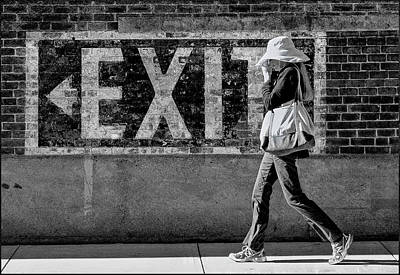 Photograph - Exit Bw by Rick Mosher
