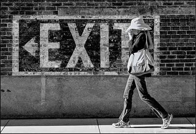 Exit Bw Art Print