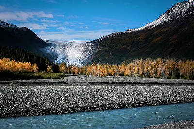 Photograph - Exit Glacier Kenai Fjords National Park by Benjamin Dahl