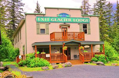 Photograph - Exit Glacier Lodge by Joe Burns