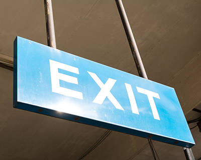Photograph - Exit Here by Nathan Hillis