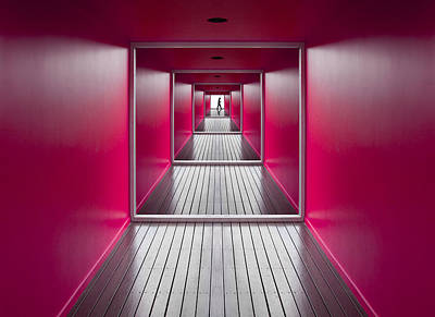Corridor Photograph - Exit by Jacqueline Hammer