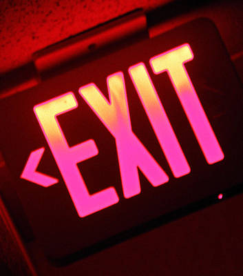 Photograph - Exit Strategy by Elizabeth Hoskinson