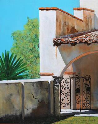 Southwest Gate Painting - Exit To Serve by M Diane Bonaparte