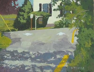 Damariscotta Me Painting - Exit To Water Street by Bill Tomsa