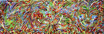 Mexicano Painting - Exodus V by Jimmy Longoria