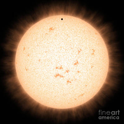 Deep Sky Photograph - Exoplanet Hd 219134b In Front Of Star by Science Source