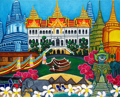 Tuk Tuk Painting - Exotic Bangkok by Lisa  Lorenz