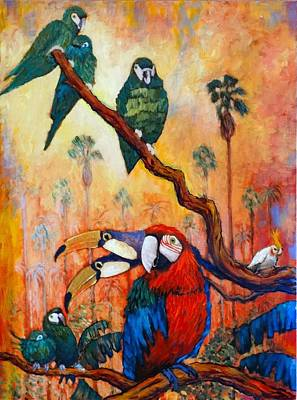 Painting - Exotic Birds Of South America  by Charles Munn