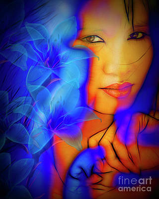 Digitally Created Photograph - Exotic Blue by Edmund Nagele