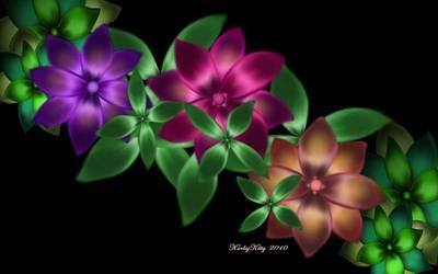 Digital Art - Exotic Flower Vine by Karla White