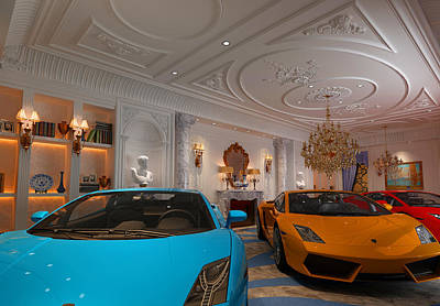 Expensive Mixed Media - Exotic Italian Lamborghini Car Collection by Edier Cr Collection