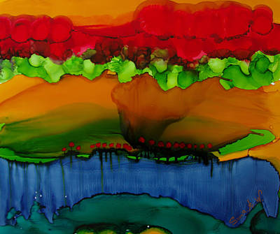 Painting - Exotic Landscape # 36 by Sima Amid Wewetzer